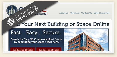 Cary NC Commercial Real estate wordpress design
