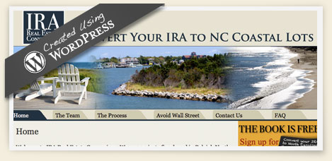 IRA real estate conversions wordpress design