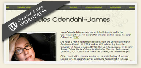 Jules Odendahl-James wordpress design