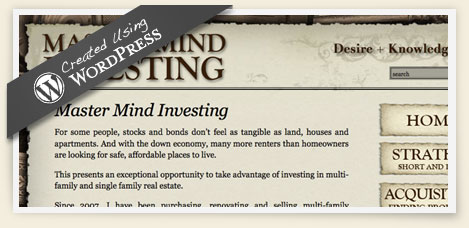 Mastermind investing wordpress design
