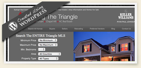 Moving the triangle wordpress design