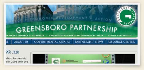Greensboro Partnership website design