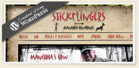 Stickflingers wordpress website