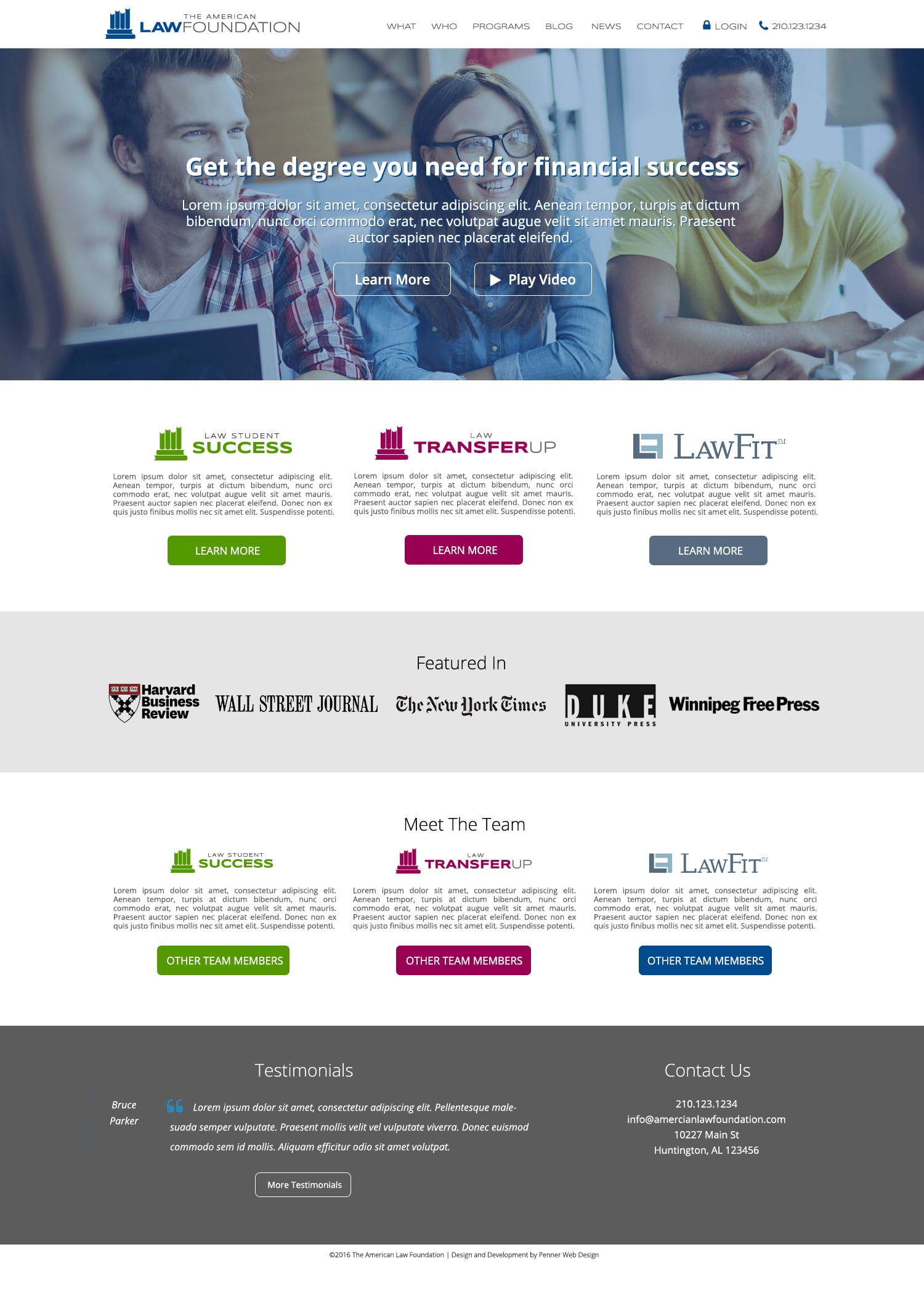 american-law-foundation-website-design
