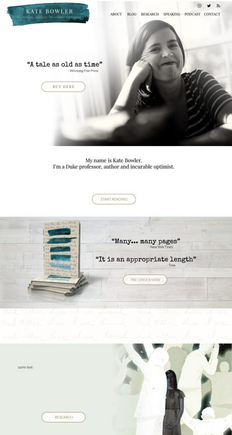 Kate-bowler-website-design