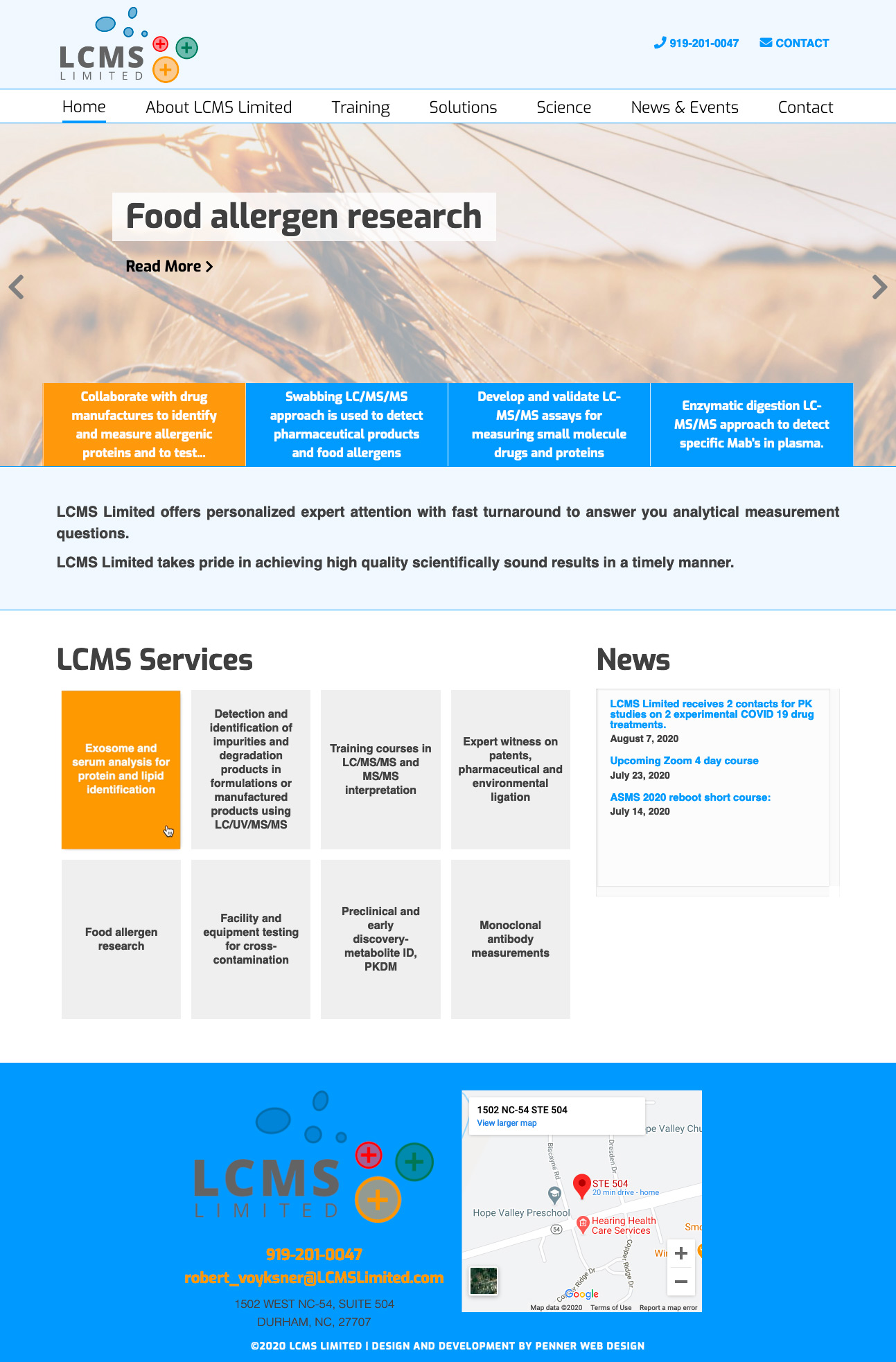 work LCMS Science Website Design