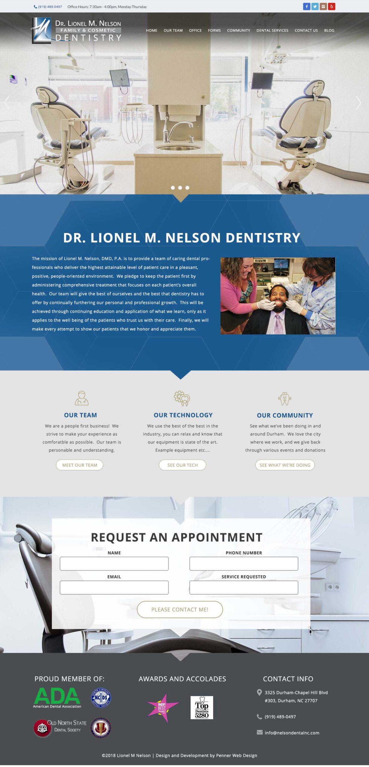 Nelson Gental Dental Dentist Website